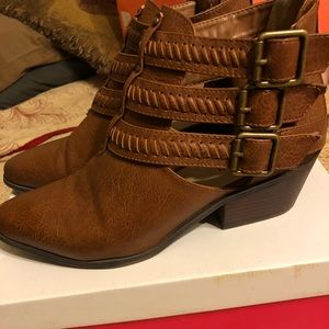 Boots - strappy front booties